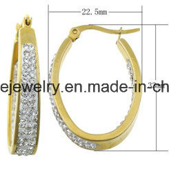 Shineme Fashion Jewelry Stainless Steel Earring with CZ (ERS6951) pictures & photos