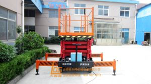 1ton 6m Hydraulic Scissor Lift (SJY1-6 Extension platform) pictures & photos