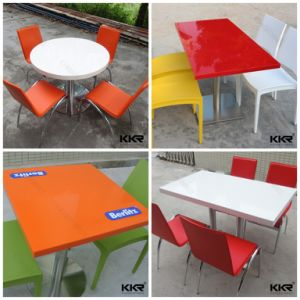 Cheap Price Solid Surface Fast Food Restaurant Dining Table pictures & photos