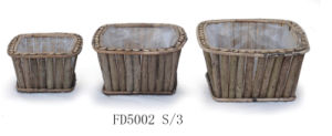 Innovation Design Rattan Flower Pot for Garden and Home Decoration pictures & photos