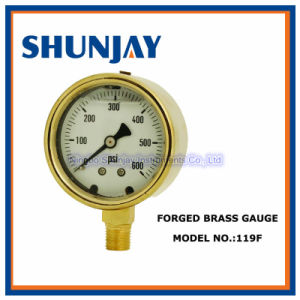 Forged Brass Case Liquid Filled Pressure Gauge pictures & photos