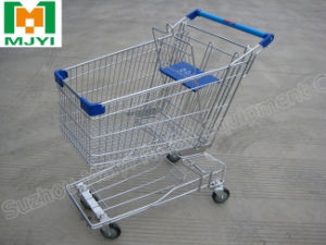 Supermarket Retail Convenient Asia Chrome Coating Shopping Cart pictures & photos