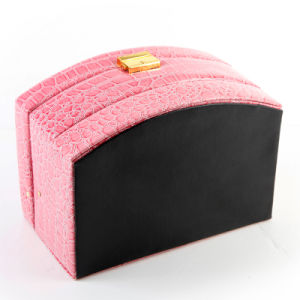 Women Leather Beauty Jewelry Case Makeup Box Portable Cosmetic Case pictures & photos
