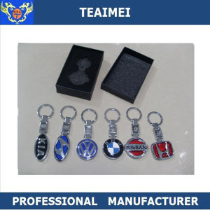 Chrome Car Logo Keychain Metal Car Logo Key Ring