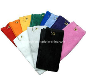 Custom Logo Golf Towel with Hooks pictures & photos
