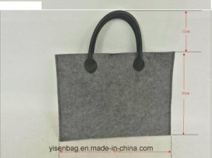 Fashion Business File PU Tote Felt Handbag pictures & photos