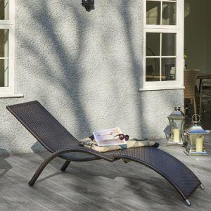 Well Furnir T-047 Aluminium Frame Perfect Design Pair Rattan Lounges pictures & photos