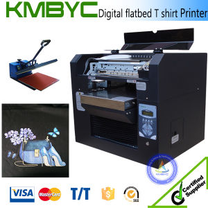 2017 A3 Size Mini Flatbed Tee Shirt Printing Machine Cheap Price pictures & photos