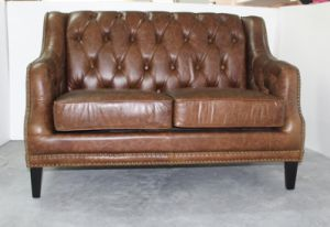Gypsy Sofa, Full Leather Sofa, Italian Style Vintage Leather Sofa, Customized Sofa Yh-216 pictures & photos