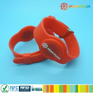 Contactless MIFARE Classic 1K HF RFID Silicone Wristband pictures & photos