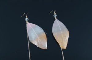 Fashion Feather Earring with Chain String pictures & photos