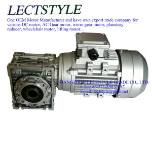 Three Phase Asynchronous Electric Motor with Reducer Nmpv050, 180W 38n. M, 60: 1, 23.3rpm pictures & photos
