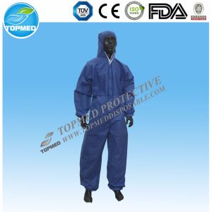 Disposable Waterproof Coveralls with Hood and Boots, Full Protection pictures & photos