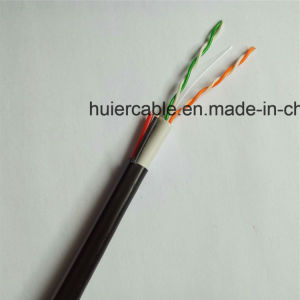2 Pairs Cat5e Cable with Power Wires (2DC) and Dual Jacket PVC+PE pictures & photos