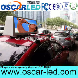 4G/3G/WiFi/USB Outdoor P5 Double Sided Taxi Top LED Advertising Display Sign Board