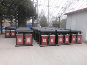 Hot Selling Outdoor Waste Bin with Plastic Wood (HW-102) pictures & photos
