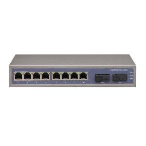 2 Port Sc and 8 Port RJ45 Full Enhanced Full Gigabit Fiber Switch 8 Port Network Switch pictures & photos