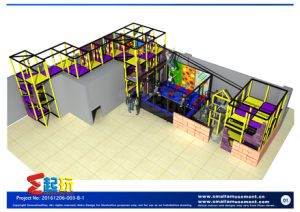 New Design for Indoor Playground with Installation Structure