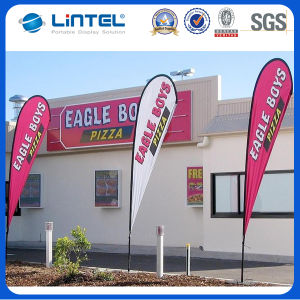 Outdoor Steel Ground Spike Polyester Flying Flag Banner (LT-17C) pictures & photos
