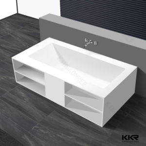 Corian Artificial Stone Solid Surface Free Standing Bathtubs pictures & photos
