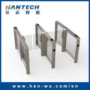 High Traffic Half-Height Access Control Gate with Swing Door pictures & photos