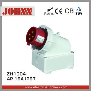 IP44 4p 16A Surface Mounted Plug for Industrial pictures & photos
