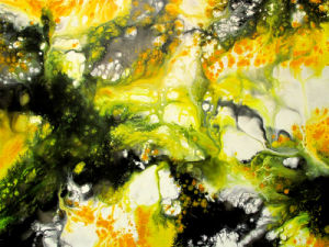 Digital Print Green Slabstone/ Marble Stone Canvas Wall Art Painting on Canvas Model No: Hx-4-134 pictures & photos