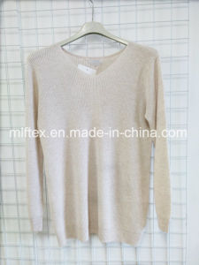 V Neck Thin Velvet Knitted Clothes for Women pictures & photos