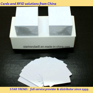 Blank White PVC Card with Cr80/30mil Size for Retailer Stock pictures & photos