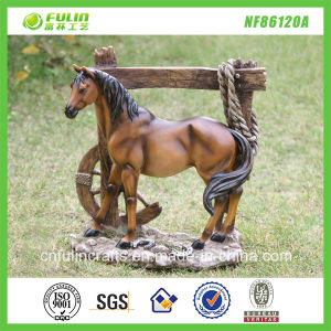 Artificial Resin Standing Horse Decor (NF86120A)