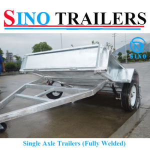 7X5 Single Axle Fully Welded Box Trailer pictures & photos
