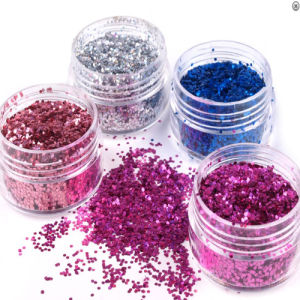 1mm Hexagon Holo Glitter Powder for Nail pictures & photos
