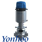 Sanitary Pneumatic Mixproof (Double Seals) Valve with C-Top