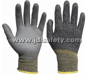 White/Grey Work Glove with PU Dipping (PN8109) pictures & photos