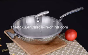 18/10 Stainless Steel Cookware Chinese Wok Cooking (SX-WO32-25) pictures & photos