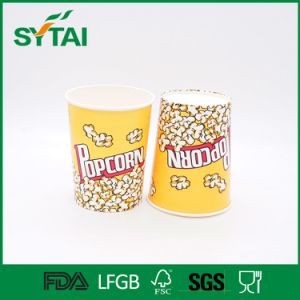 Cinema Use PE Coated Disposable 64oz Popcorn Paper Cups/Buckets pictures & photos