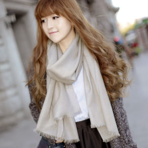 100% Fashion Merino Wool Scarf Solid Pattern (12-BR020102-2.16) pictures & photos