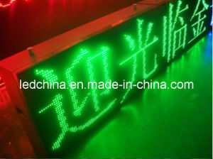 Outdoor Waterproof Green LED Moving Message Sign pictures & photos