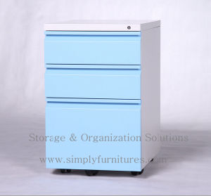 Mobile Metal Filing Cabinet 3 Drawersgray (T2-FP03) pictures & photos