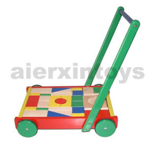 Wooden Blocks Cart with 36PCS Blocks (80024) pictures & photos