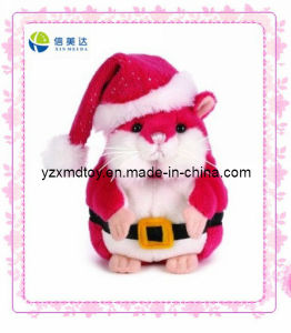 Plush Christmas Mouse with Santa Hat Toy (XMD-0096C) pictures & photos