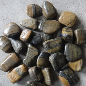 Natural Polished Stripe Cobble Stone pictures & photos