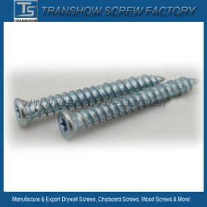 Blue White Zinc Galvanized Concrete Screws pictures & photos