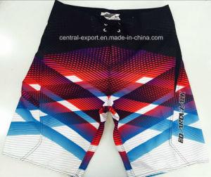 Oeko-Tex Flat Waist Polyester Striped Men Board Short Swimwear pictures & photos