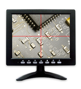 8-Inch Cross Line with Scales Industrial TFT LCD Monitor