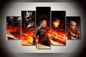 HD Printed Witcher 3 Comics Painting on Canvas Room Decoration Print Poster Picture Canvas Mc-122 pictures & photos