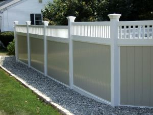 Privacy Fence with Picket Top pictures & photos