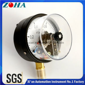 4 Inch Magnetic Electric Contact Pressure Meters with Upper Limit and Lower Limit Control pictures & photos