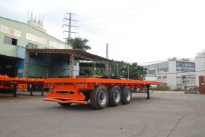 3 Axle Side Drop Semi Trailer pictures & photos