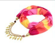 2014 Fashion Silk Scarf Jewelry for Lady